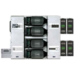 OutBack Power FP4 FXR3048A-01 FLEXpower FOUR, 12kW, 60Hz, 48VDC, (4) FXR3048A-01 Inverters w/ ABC, 240VAC Bypass, GFDI-80Q, MATE3s, HUB10.3, RTS, (4) FLEXmax 80, Surge Protector, FLEXnet DC, FW-X240