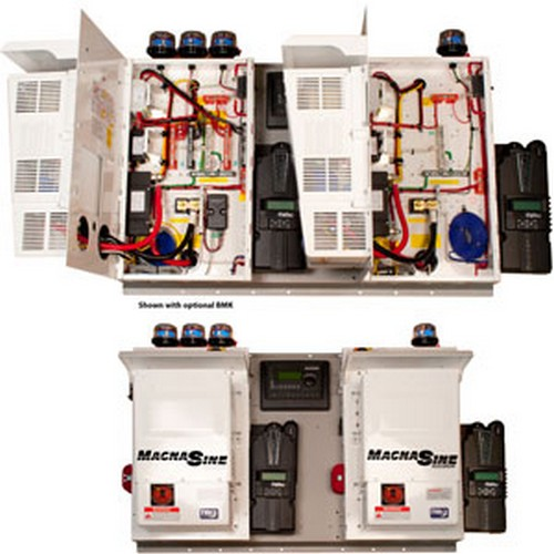 MidNite Solar MNEMS4448PAED-2CL150D Dual Magnum MNEMS4448PAE Inverters and  Classic 150 Charge Controllers