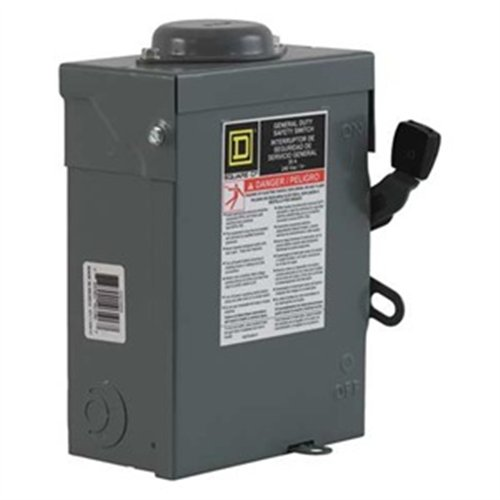 du221rb, disconnect, general duty safety switch, nonfusible, 30a