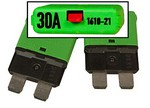 Miniaturized Circuit Breaker,  30A, 32VDC, 1 Pole, For Kid Control, MNKID-BREAKER-30A, Midnite Solar