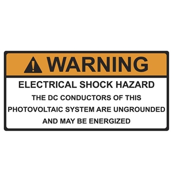 188 09031 Solar Label Warning Dc Conductors Energized