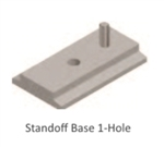 SnapNrack 242-00017, Standoff Base, 1 Hole, Mill